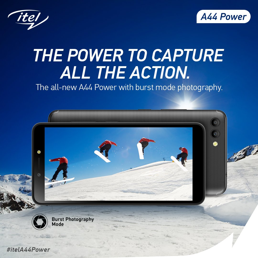 Click the best motion pictures with itel A44 Power's burst mode and be a pro at photography! #itelA44Power
