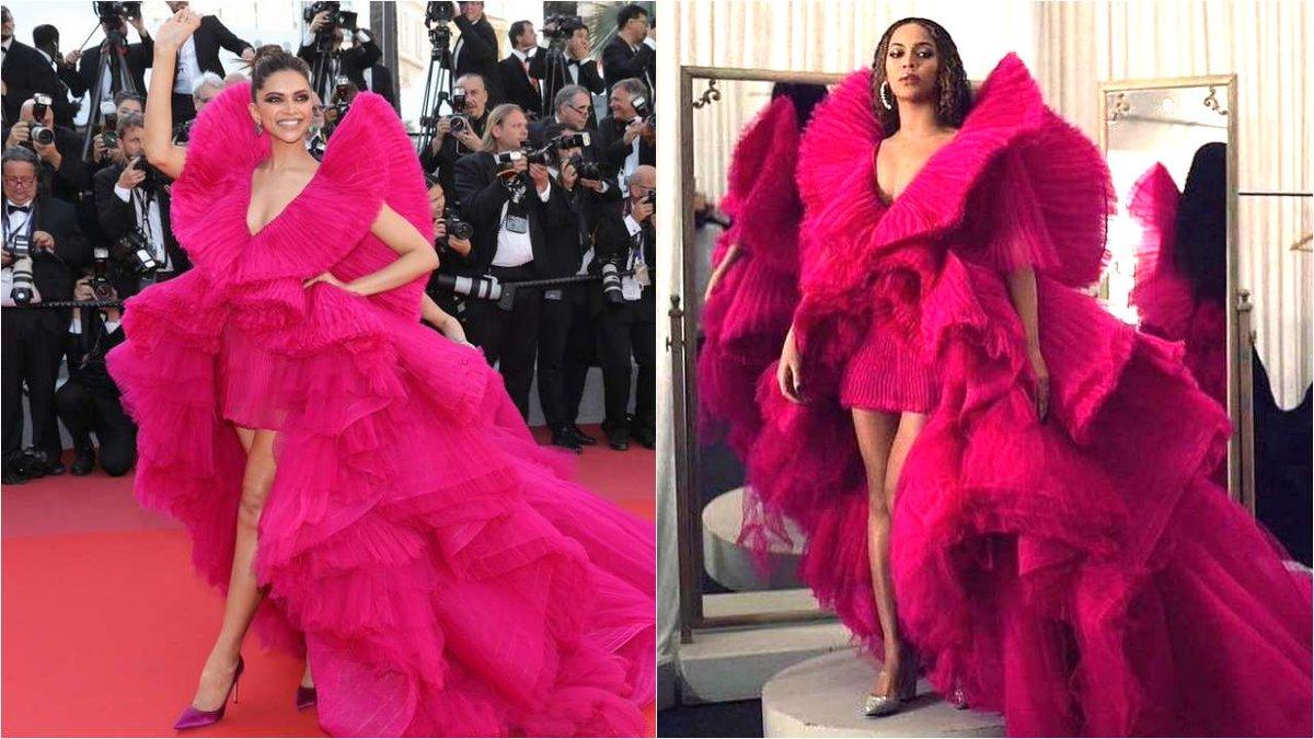 Beyonce duplicates Deepika Padukone's Cannes 2018 look at the Global Citizen Festival #Beyonce #Cannes #Cannes2018 #CannesFilmFestival2018 #DeepikaPadukone #GlobalCitizenFestival2018 https://t.co/8xaSWoQacQ https://t.co/1WP68YoJuk