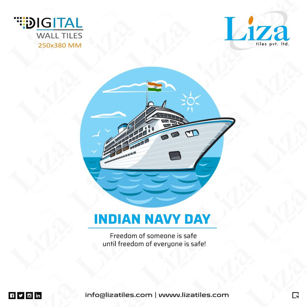 Liza Tiles Pvt Ltd On Twitter Indian Navy Day Digital