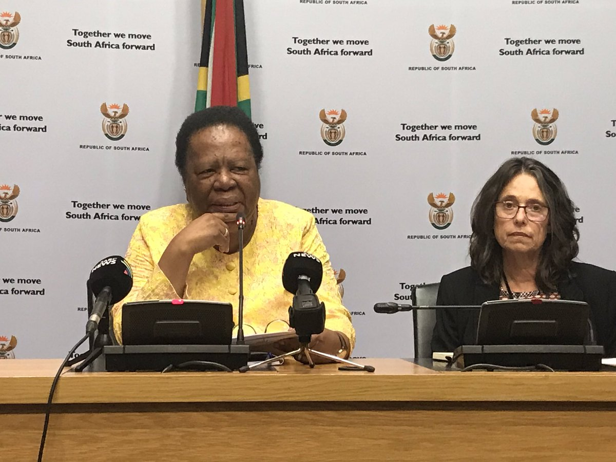 #NSFAS Higher Education Minister Naledi Pandor giving an update on applications received for 2019. LD