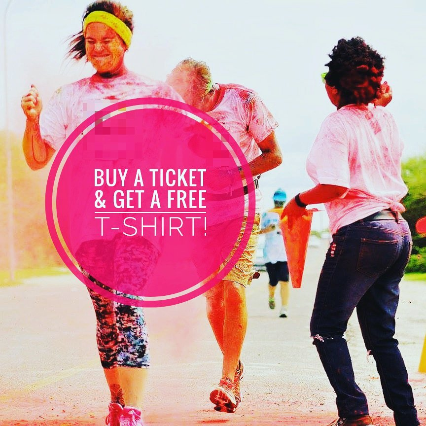 Buy a ticket &amp; get a free t-shirt, limited offer.  Tickets now available @CrabFinger,  above Mascom, old Mall.  #maunkamonate  #maun #family #satisfying #healthylifestyle #tagafriend #colourun #maun #festive2018 #okavangocolourun #funrun<br>http://pic.twitter.com/YGNVBx4YnR