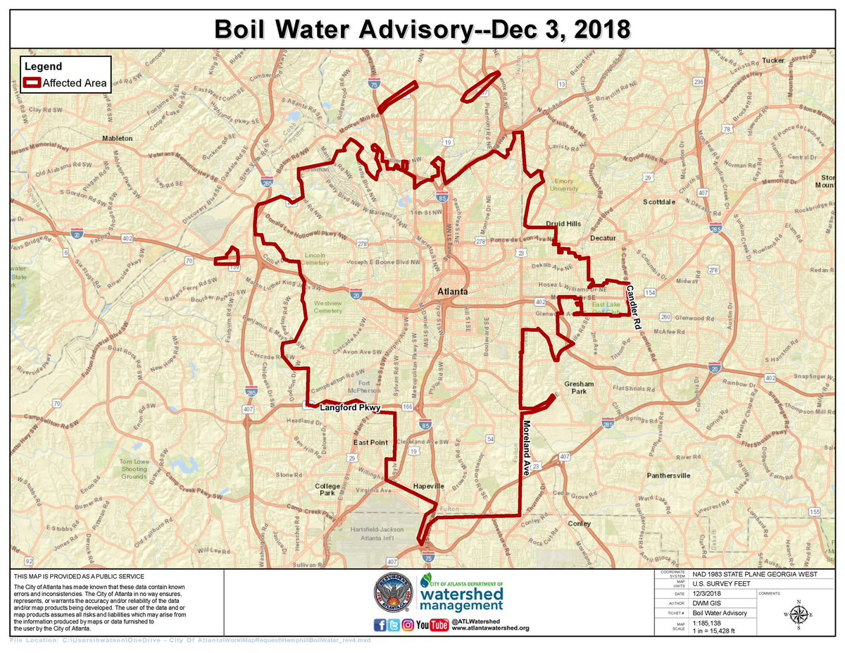 Map Of Georgia Tech.Georgia Tech Police On Twitter Fyi The Boil Water Advisory