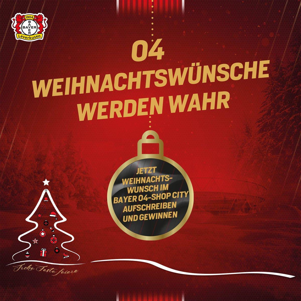 Vor Weihnachtswünsche.Bayer 04 Leverkusen On Twitter Bayer04 Macht 04