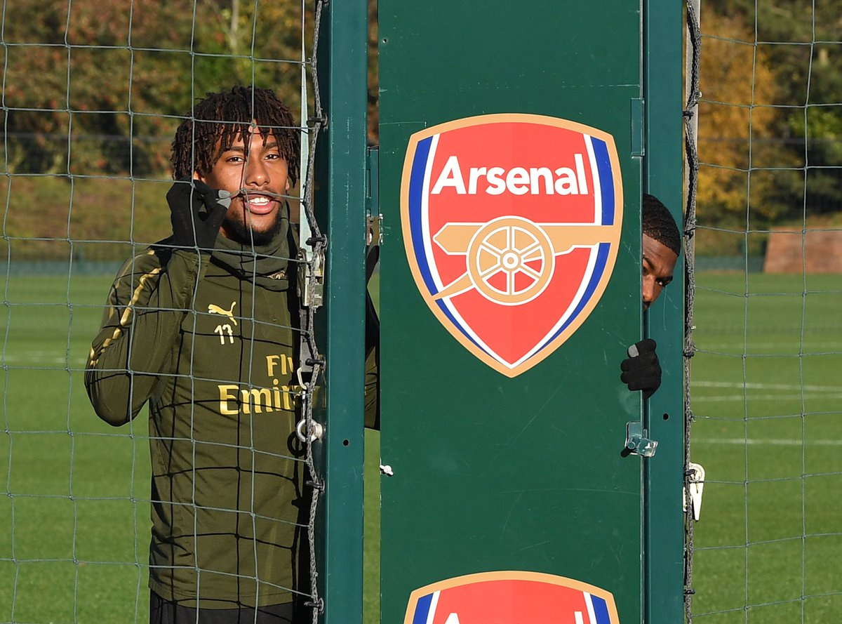We see you, @Ains_7 👀  📍 Arsenal Training Centre
