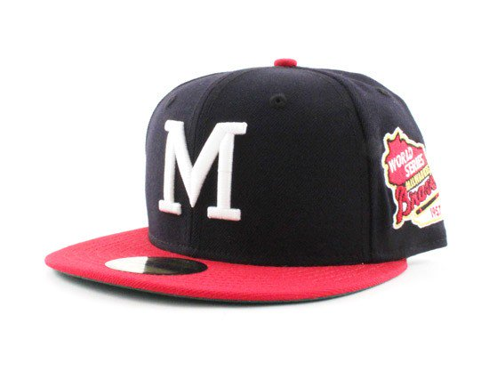 a8a65bf52a7 ... Fitteds (Gray Under Visor) http   www.ecapcity .com milwaukee-braves-new-era-59fifty-fitted-hats -1957-world-series-patch-retro-green-under-brim.html …