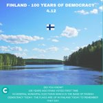 Image for the Tweet beginning: 100 years ago Finns voted