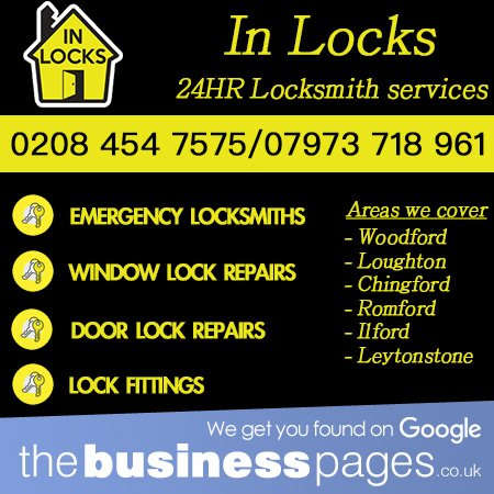 Tel: 07973 718 961 Locked Out? Emergency #Locksmiths #Locksmith in Loughton, Epping, Wanstead, Chingford, Chigwell, Barkingside, Hainault, Harlow & Ilford inlocks.com thebusinesspages.co.uk/ads/emergency-…