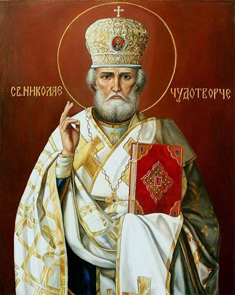 Today we commemorate St. Nicholas. He was the bishop of Myra (near Kale in southwestern Turkey) in the 4th century and became known for his generosity. Most of the relics of St. Nicholas are kept today in the Basilica di San Nicola in Bari. <br>http://pic.twitter.com/1FDjnRJMIU