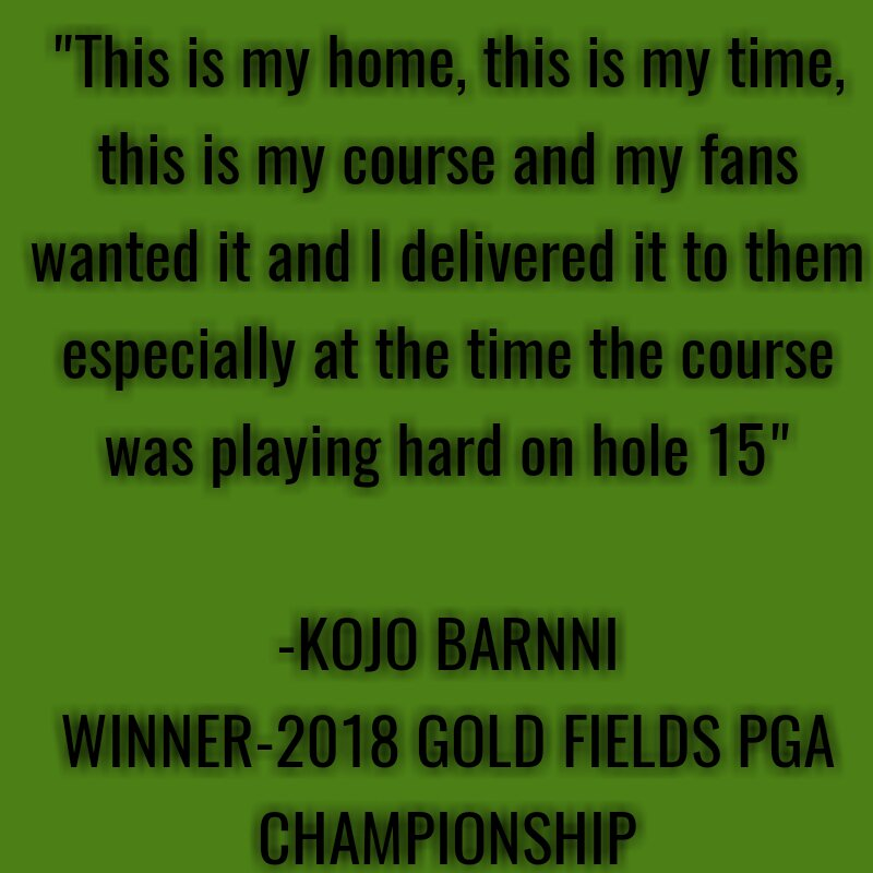 Congratulations to Ghanaian golfer Kojo Barnni for adding the 2018 Gold Fields PGA Championship to your list of wins. <br>http://pic.twitter.com/tj2YbajYxi
