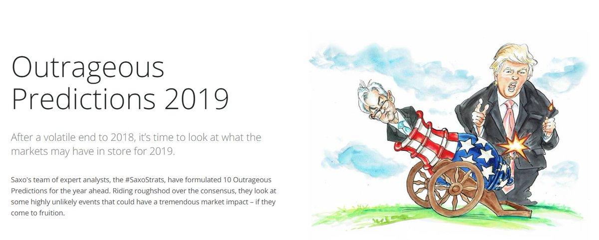 Comme chaque année,  saxobank  SaxoBanqueParis publient leurs prévisions  chocs 2019. Et comme chaque année, il y a du lourd ! ... 65ffd60f42c
