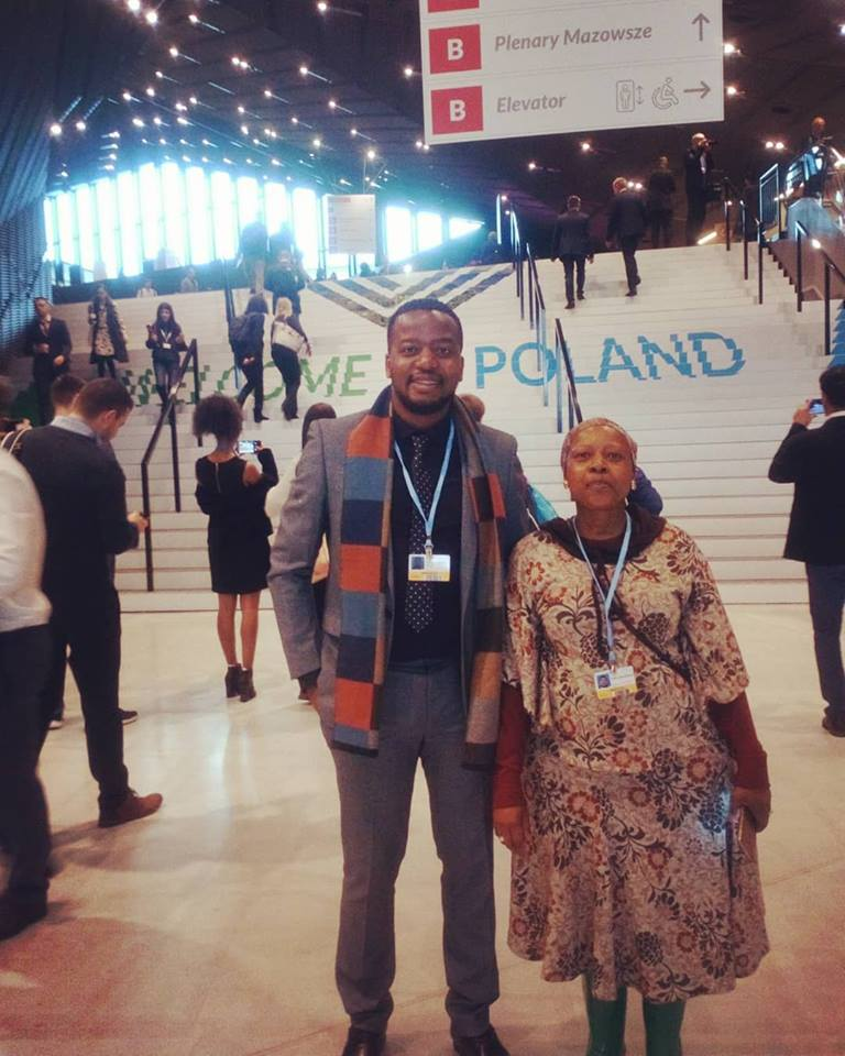 Wellington @wellosacha (FLEAT 2) and Ndivile Mokoena (FLEAT 1) at #COP24