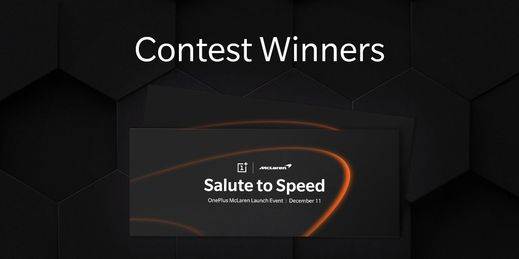Winners, get ready for the #SalutetoSpeed! Join OnePlus and @McLarenF1 as we pursue the limits of speed on December 11. onepl.us/mclwin