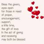 Image for the Tweet beginning: Bless the givers #prayer #blessing