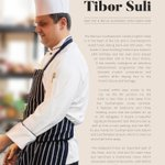 Image for the Tweet beginning: Head #Chef Tibor Suli from