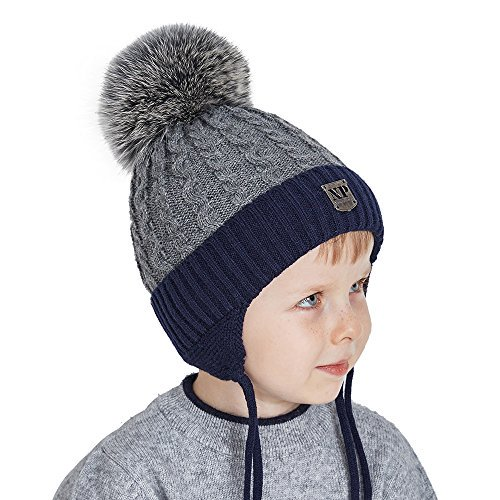 98d160714ad ... for-kids-boys-knit-beanie-with-real-fox-fur-pom-pomdark-gray-with-dark-gray-fox-pompomnormal-one-size-fit-for-18-21-inch-with-stretch   …pic.twitter.com  ...