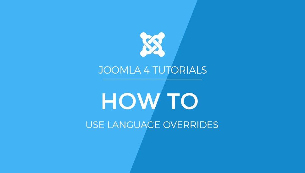 Joomla 4 Tutorials: How to use Language override #joomla #joomla4 #joomlatips  https:// buff.ly/2GaHBPB    <br>http://pic.twitter.com/JbwiuHOgNN
