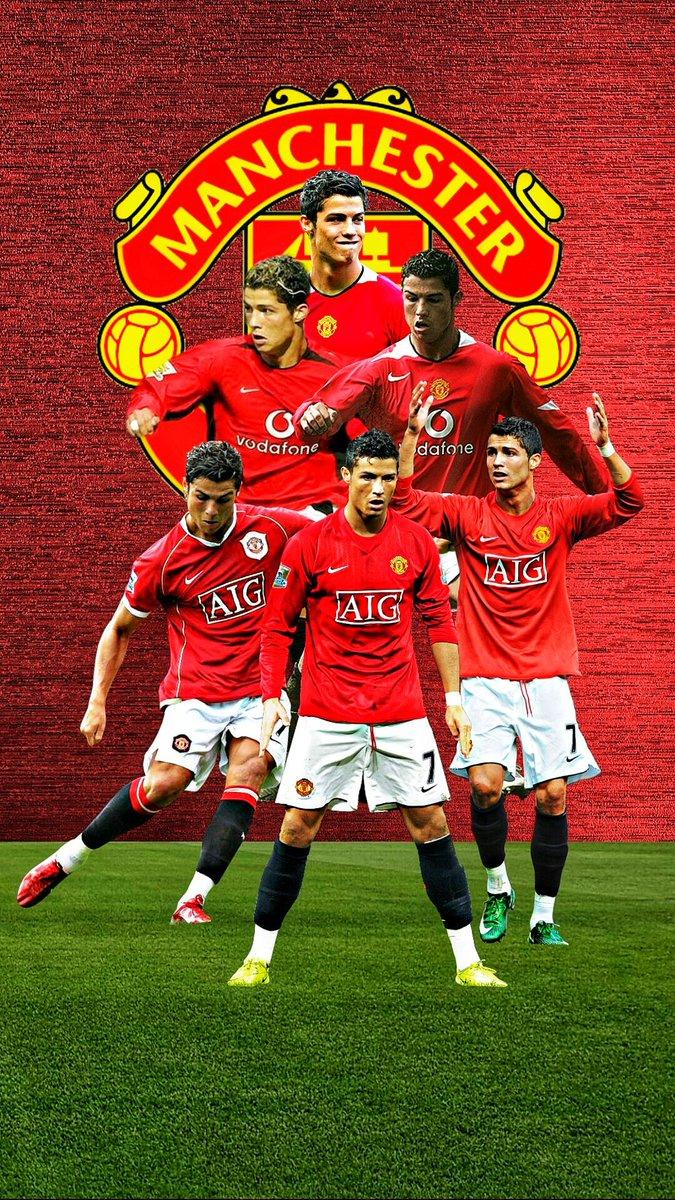 Ams R On Twitter C Ronaldo X Manchester United Wallpaper