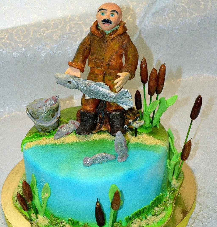 торт для рыбака из мастики фото достаю холодильника сливочное