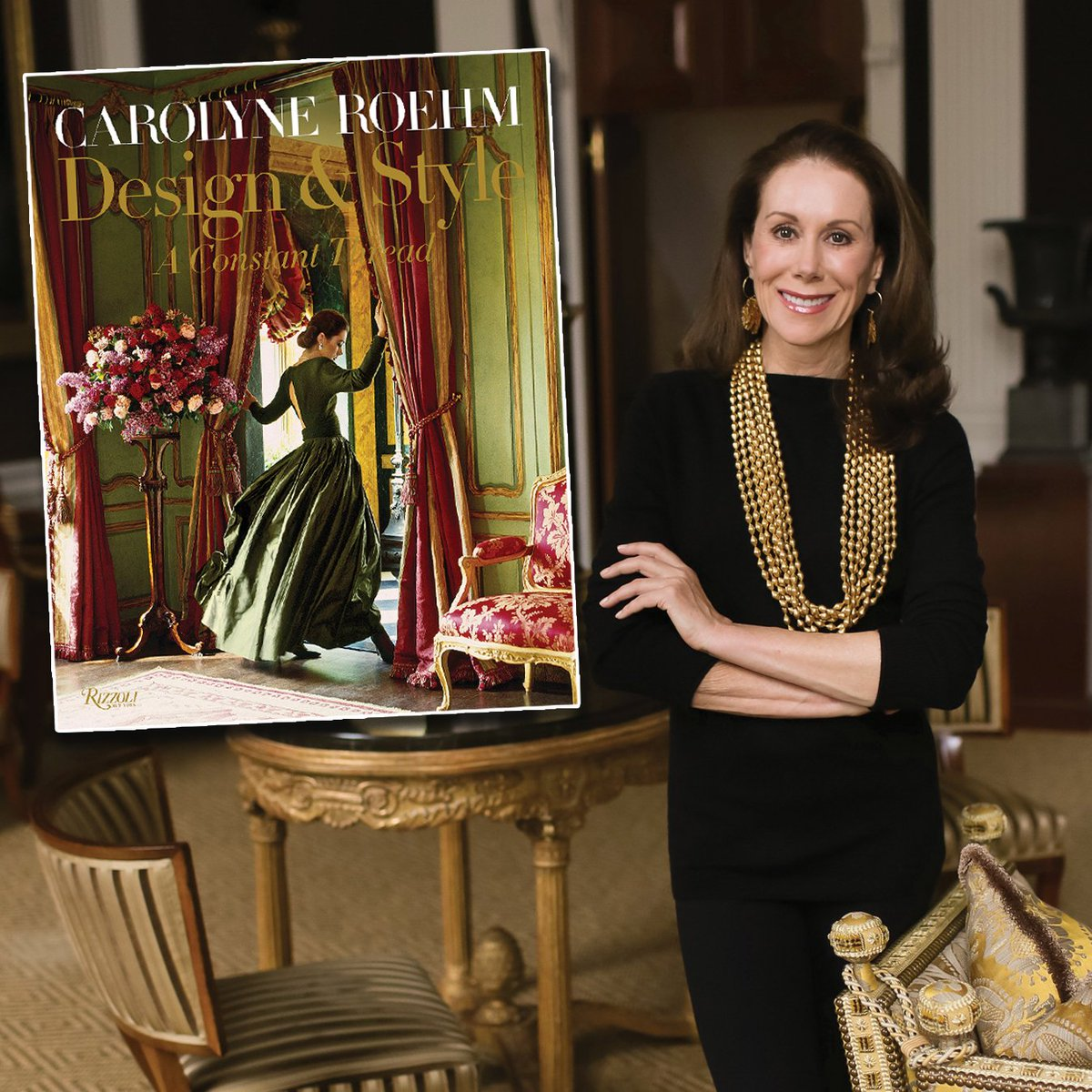 Join us at Doyle tomorrow evening for a slide presentation and book signing reception with Carolyne Roehm in celebration of her new book, Design & Style: A Constant Thread (Rizzoli). Details at Doyle.com