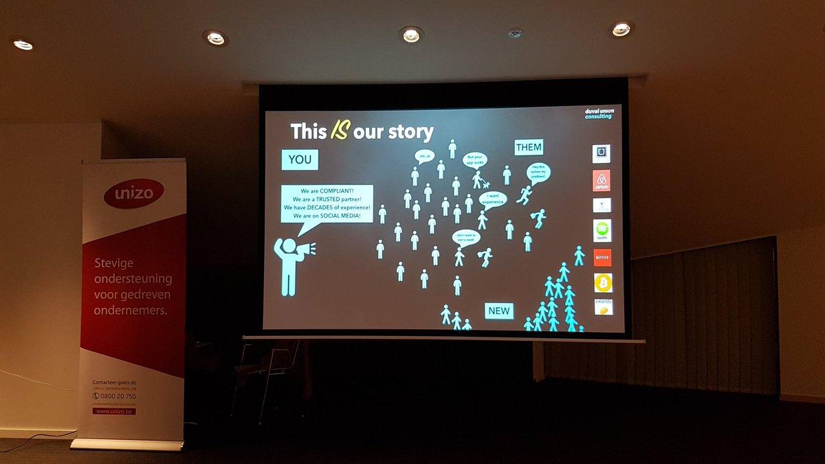 """""""Als 30% van jouw klanten naar de concurrentie trekt, is het dringend tijd om actie te ondernemen!"""" Duidelijke boodschap van Laura Boone @DuvalUnionC #futureforward #Retail #digitaledisruptie @UNIZOLimburgpic.twitter.com/2yddE9WHqF – at Corda Conference"""