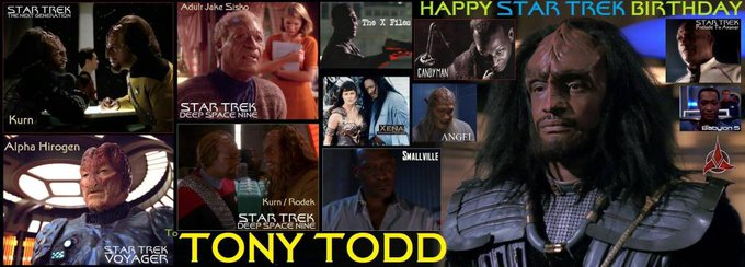Happy birthday to Tony Todd, born December 4, 1954.