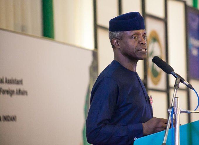 """""""Come February 2019, the APC will by the grace of God win the general elections. We will return President Muhammadu Buhari as President of the Federal Republic of Nigeria for a second term. The election will be a historic one"""" – VP Yemi Osinbajo today, in Abuja. Photo"""