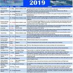 Image for the Tweet beginning: Updated 2019 events.  Sadly