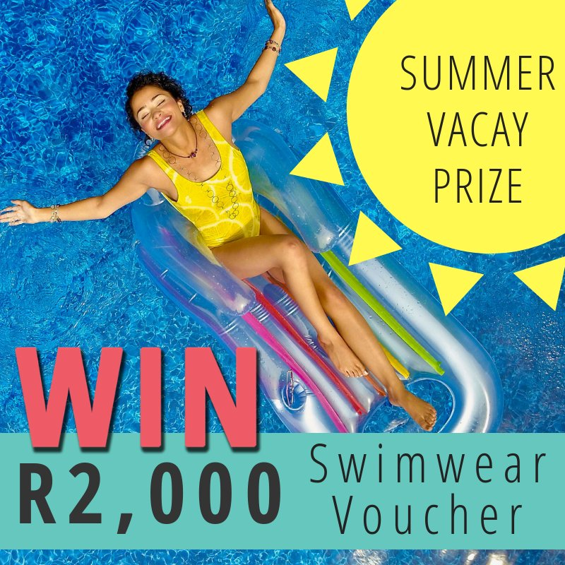 Summer is here, and so is the R2,000 swimwear voucher giveaway ☀️ 👙  Play now to stand a chance of winning - entries close at midnight!  https://t.co/ty8D5XHvCk https://t.co/7Nx3T8sqE6