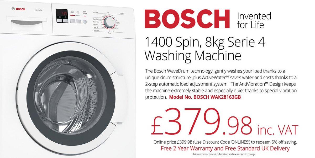 Bosch washing machine 1400 Manual