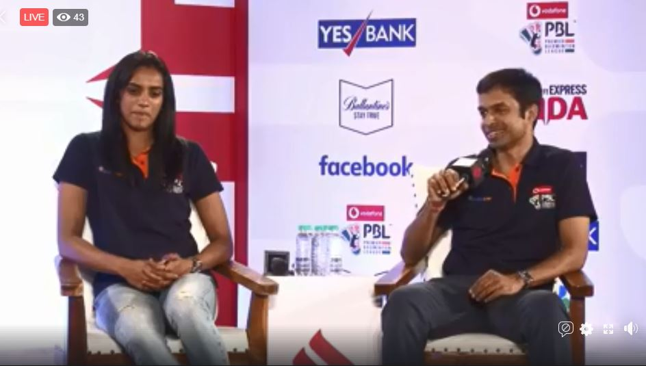 #ExpressAdda | @Pvsindhu1 and coach Pullela Gopichand in conversation with @seemay and Shivani Naik. Watch the conversation LIVE here: bit.ly/2KTRtvN