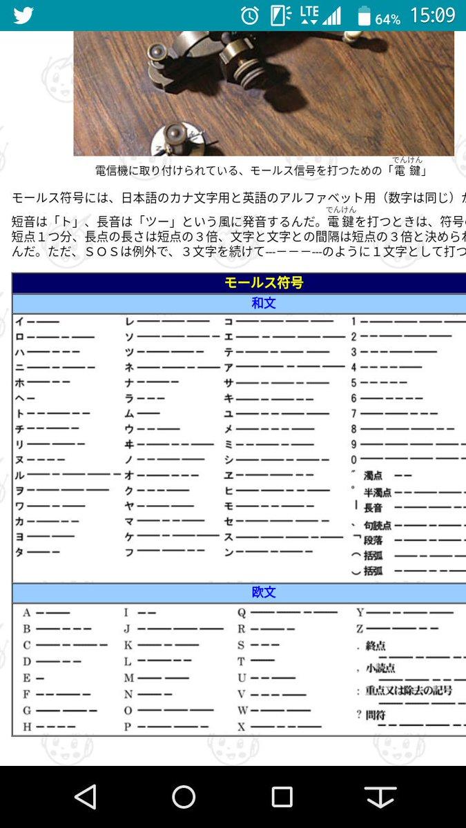 翻訳 モールス 信号