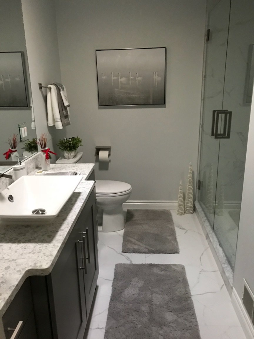 Creative Office On Twitter We Added The Finishing Touches To Our Client S Bathroom The Custom Vanity Quartz Countertop Vessel Sink And Stainless Steel Fixtures Fit Perfectly With Our Client S Contemporary Style Hjoldenkamp