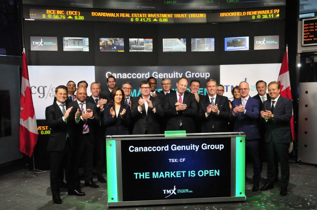 Daniel Daviau, President & CEO, @canaccorgenuity (TSX: CF) opened the market to celebrate 15 years listed on TSX! Congratulations on this milestone! https://t.co/bztjYD2mo1