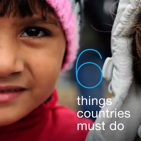 Protect one.  Support all.   6 things countries must do for #ChildrenUprooted. #AChildIsAChild
