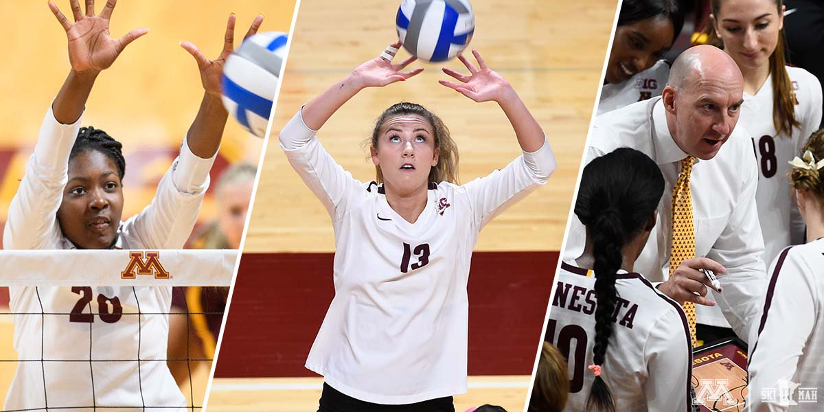 Adanna Rollins, Samantha Seliger-Swenson and Hugh McCutcheon nabbed North Region's Freshman, Player and Coach of the Year honors!  👏  http://z.umn.edu/gvbavcanr