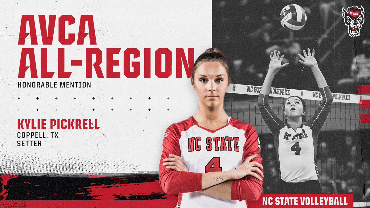 🚨 EXCITING NEWS 📰  Congratulations to senior setter @KyliePickrell on being named to the @AVCAVolleyball All-East Region Team for the ✌️ consecutive season  🔗 - https://gopack.com/news/2018/12/4/womens-volleyball-pickrell-named-to-second-consecutive-avca-all-region-team.aspx …  #STATEment // #PackVB