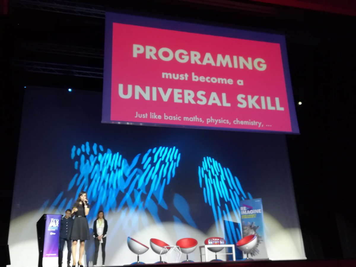Completly agree with @Anush_Manukyan that programming should become a universal skill at #itone
