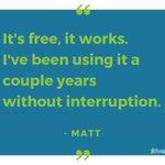 Simply put and well said, thanks Matt! #TestimonialTuesday