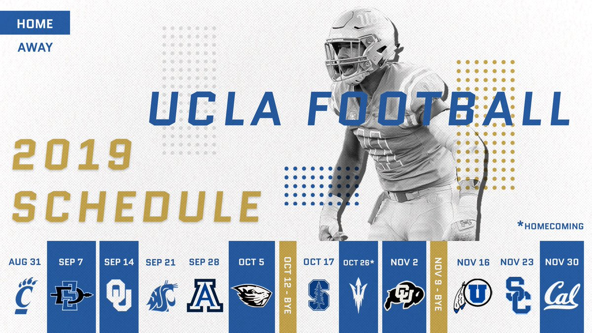 Image result for ucla 2019 football schedule