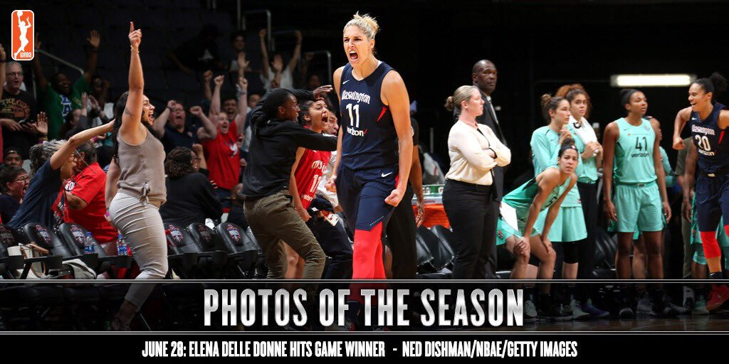 Clutch city! 🙌🔥 Photos of the Season continues with @De11eDonne hitting the game-winning three over NY! #BestOfWNBA