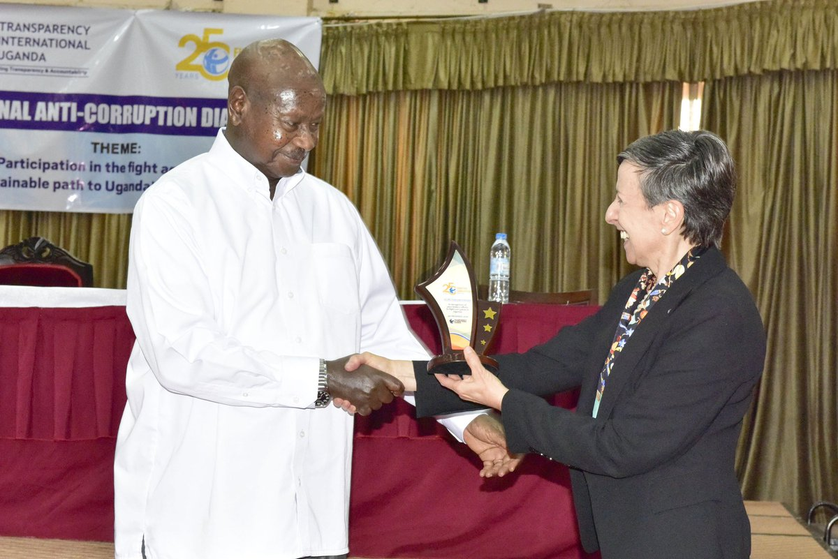Was chief guest at the 25th anniversary celebrations of Transparency International, Uganda Chapter, in Kampala. I thank them for giving me an award in recognition of my fight against corruption.