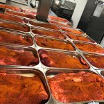 Image for the Tweet beginning: Trays and trays of brisket.
