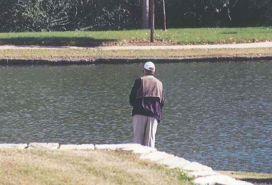 Outside of meeting with students, one of President George H.W Bushs favorite pastimes, when he visited College Station, was fishing in the pond behind his School and Library #honoring41