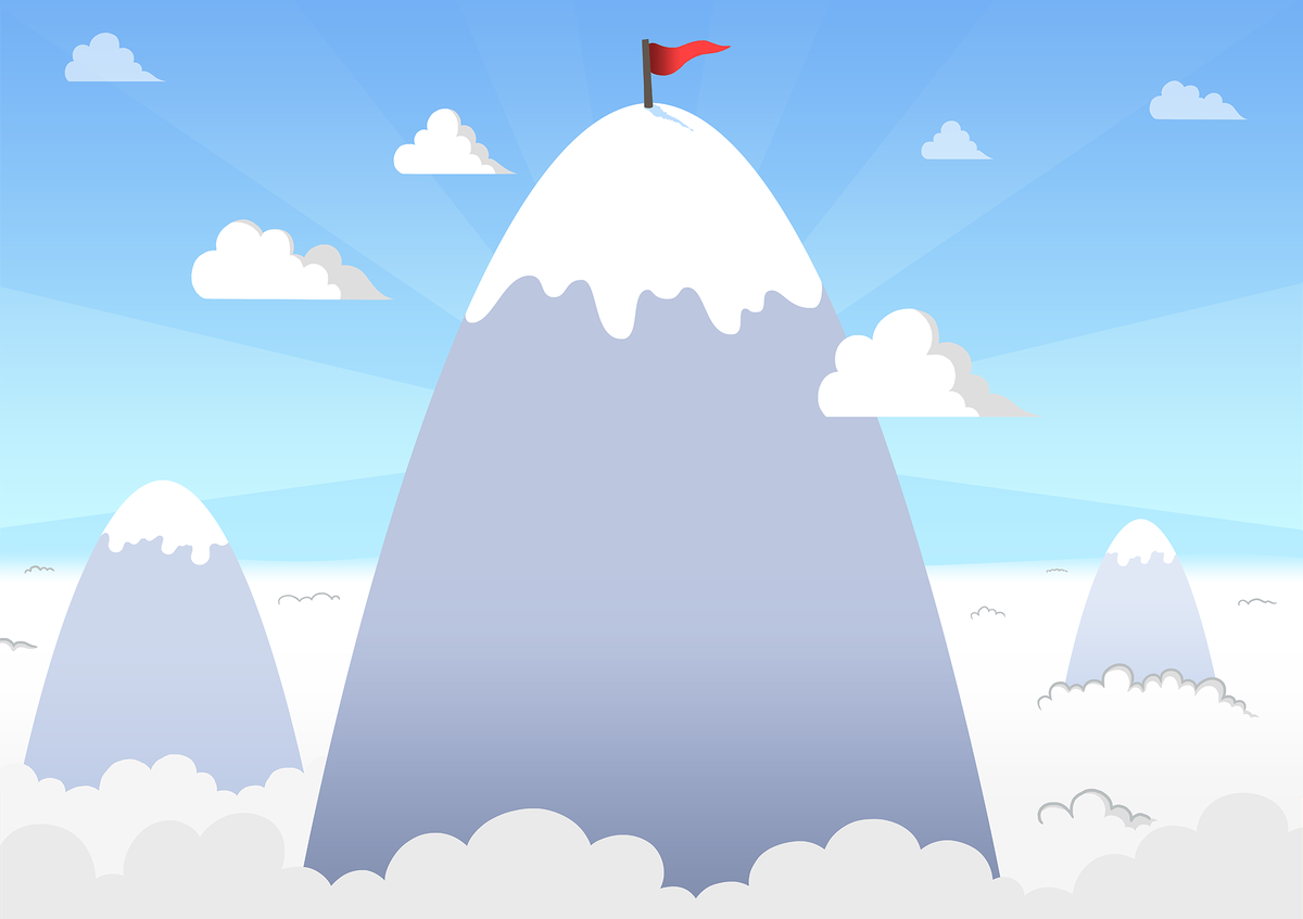 Here's a very simple snowy mountain wallpaper I made for my school project.