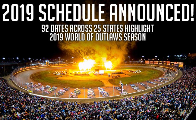 World Of Outlaws 2019 Schedule World of Outlaws on Twitter: