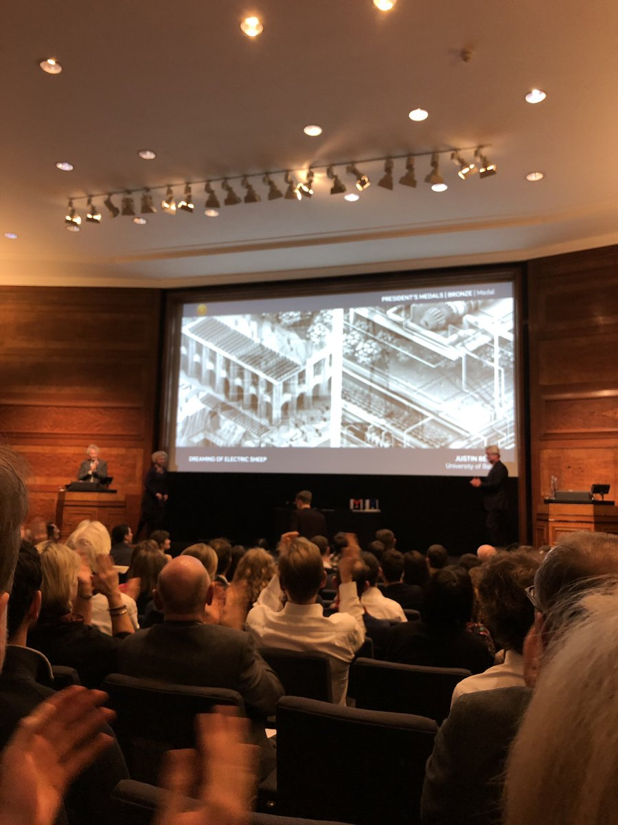 Ruth Reed On Twitter Justin Bean Of The University Of Bath Wins The Riba Bronze President S Medal For Dreaming Of Electric Sheep
