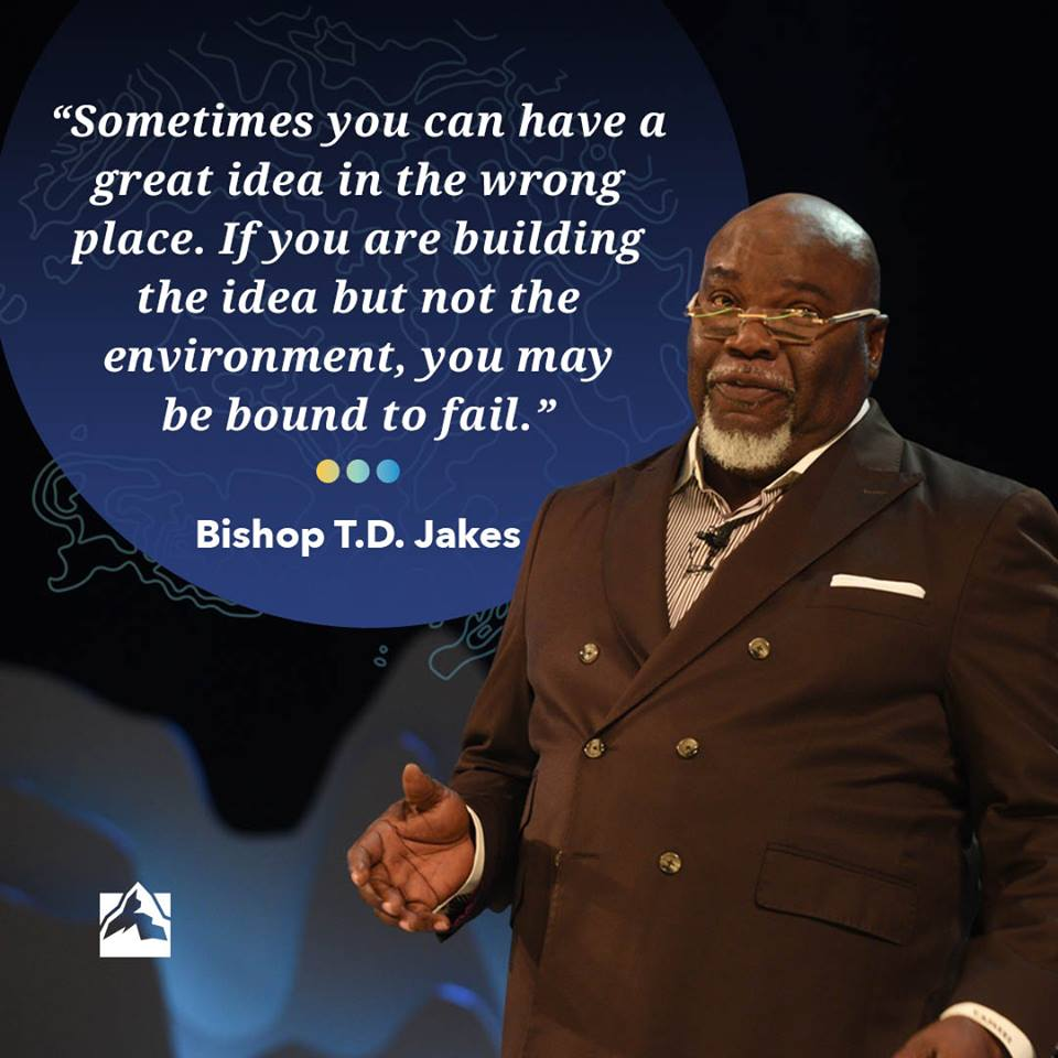 The one and only, TD Jakes shared so much wisdom at #GLS18! What kind of environment are you creating in your organization? <br>http://pic.twitter.com/YClTujSuNv