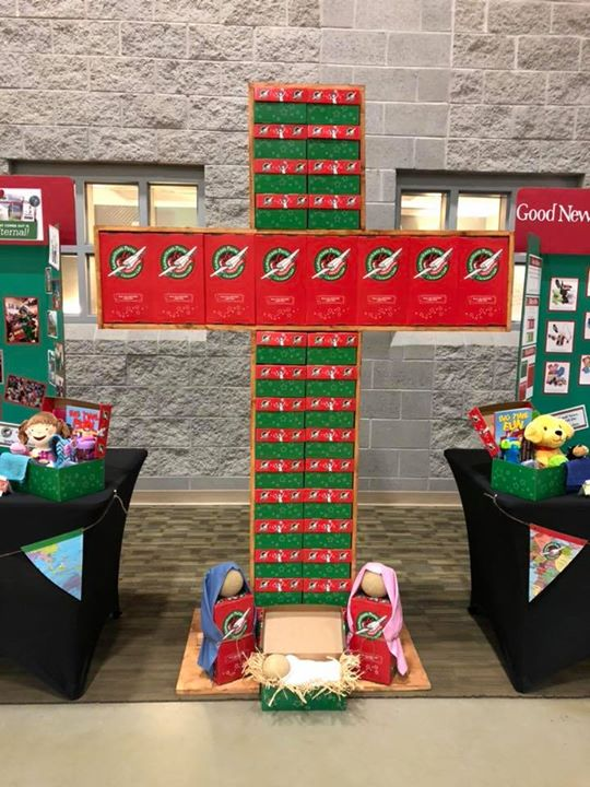 Operation Christmas Child Shoebox Display.Operation Christmas Child On Twitter We Love This