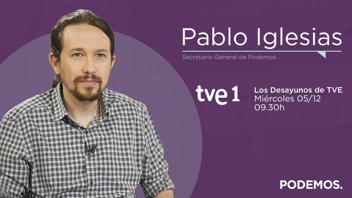 📺 A las 9:30h estaré en @Desayunos_tve. 🔴 Podéis seguir el programa en directo aquí: rtve.es/directo/la-1