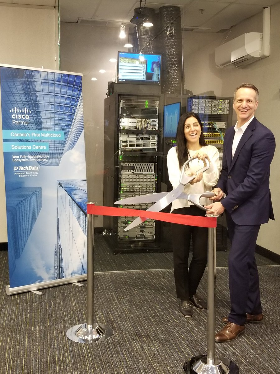 Today @TechDataCanada and @CiscoCanada unveiled Canada's First Multi-Cloud Solutions Centre. The training and hands-on experience this facility offers will ensure end-user customers in the region have the best technicians and sales teams supporting their deployments. @RolaDagher